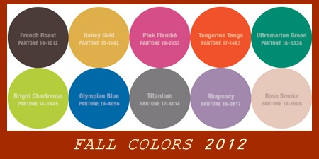 fall wedding color trend 2012