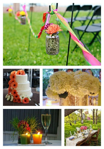 outdoor wedding decoration picture