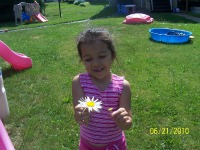maya giving me flower during summer time