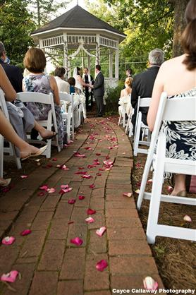 outdoor wedding in a gazebo