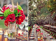 outdoor wedding table decoration
