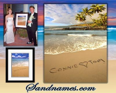 Simple Wedding Planning Guide on Sandnames   A One Of A Kind Wedding Gift Idea