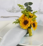 sunflower napkin holders