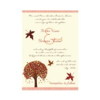 Fall wedding color invitation