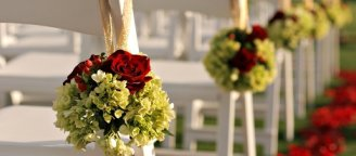 outdoor wedding chair decoration