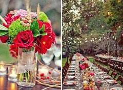 outdoor wedding table decoration