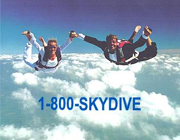 extreme wedding skydiving