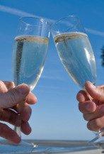 wedding toasts, champagne glasses